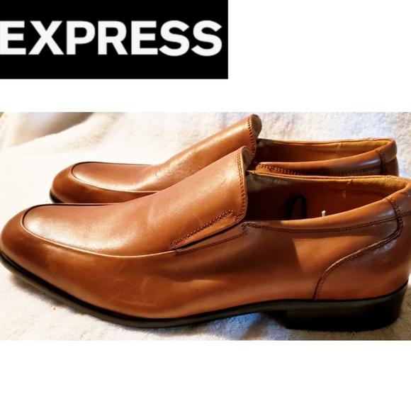 Express Shoes | Mens Cognac Slip In
